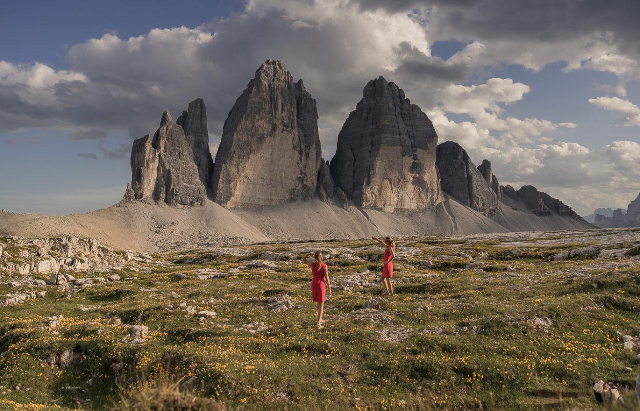 Tre Cime di Lavaredo s Janou a Táňou
