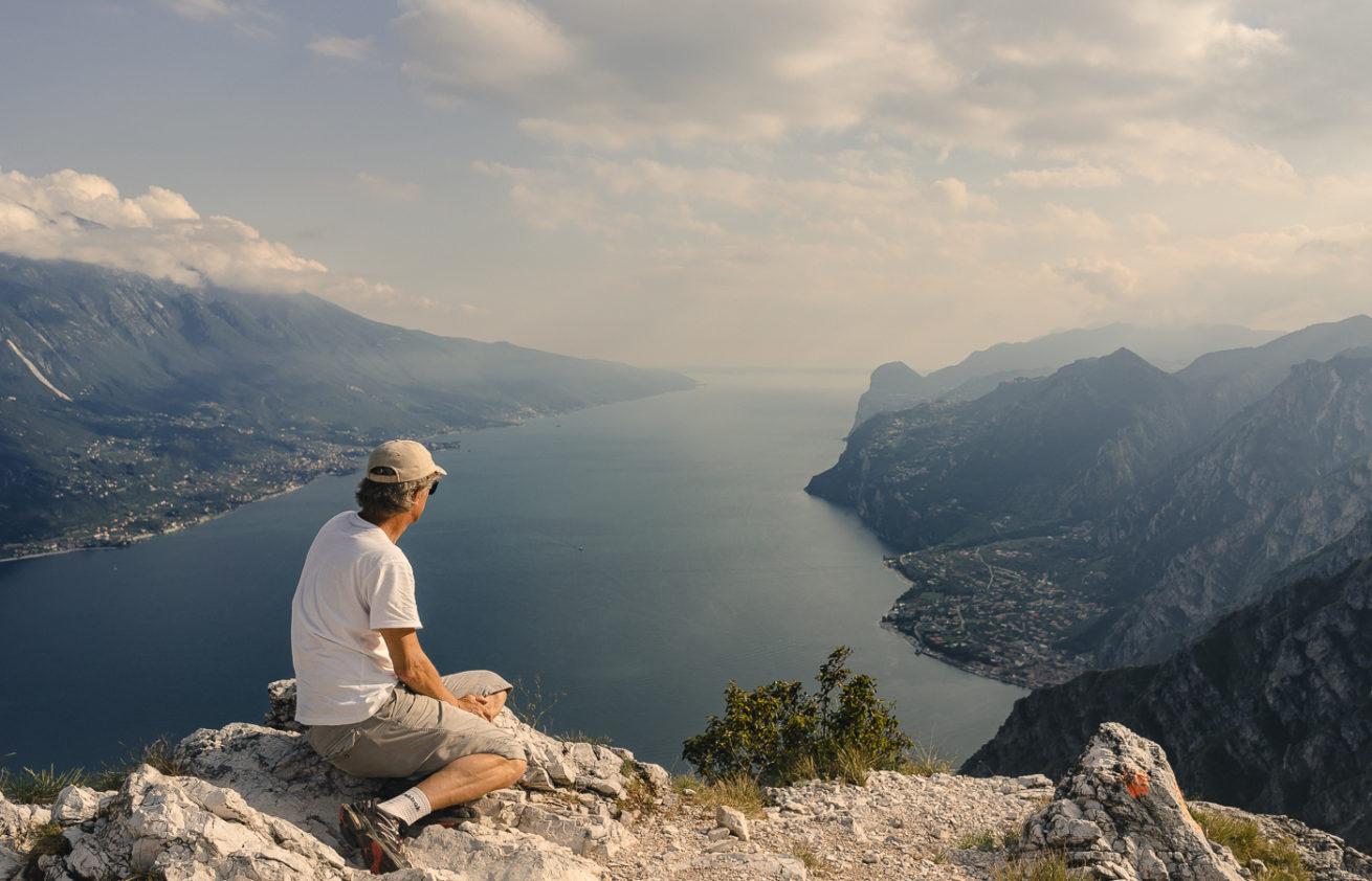 Jezero Garda - vyhlídka Punta Larici